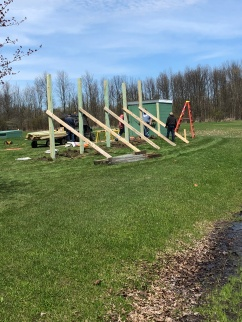 Replacing the east fence